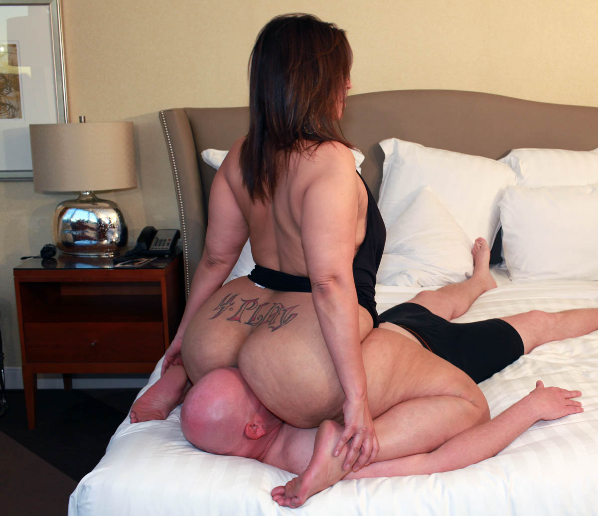 Bed Big black naked in booties good